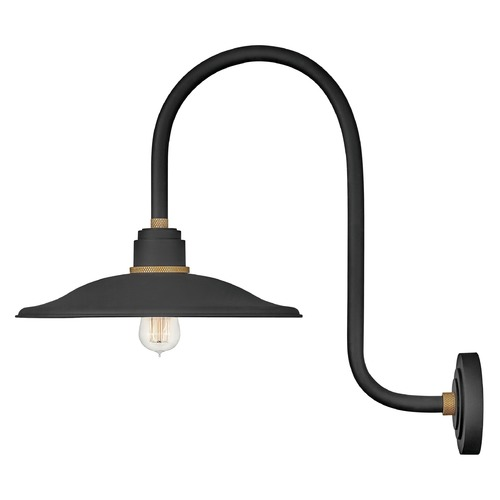 Hinkley Hinkley Foundry Textured Black / Brass Barn Light 10877TK