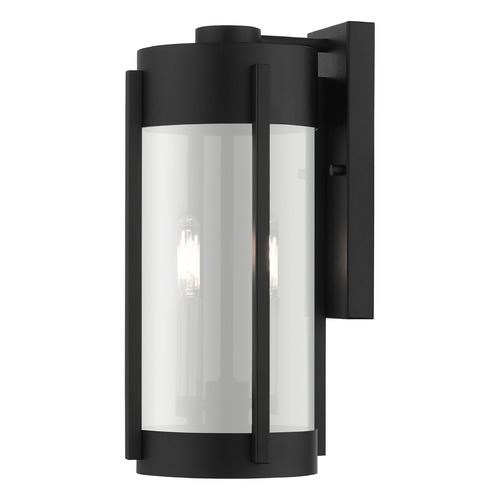 Livex Lighting Livex Lighting Sheridan Black with Brushed Nickel Outdoor Wall Light 22382-04