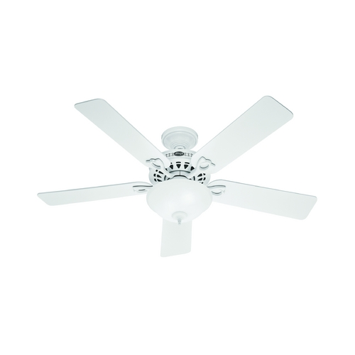 Hunter Fan Company Hunter Fan Company the Astoria White Ceiling Fan with Light 53059