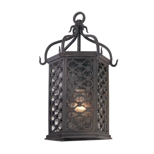 Troy Lighting Outdoor Wall Light with Clear Glass in Old Iron Finish BF2371OI