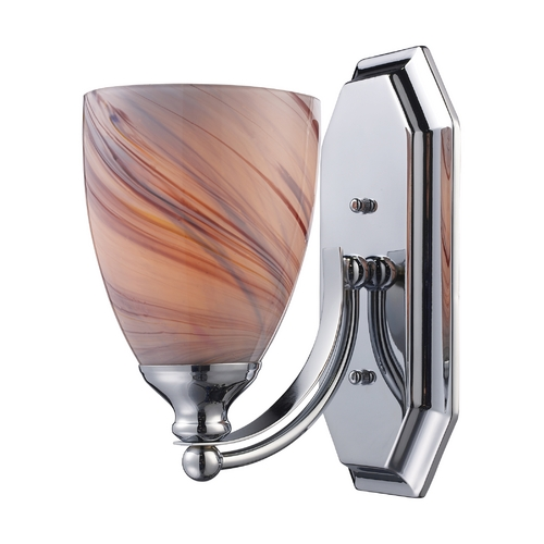 Elk Lighting Sconce with Art Glass in Polished Chrome Finish 570-1C-CR