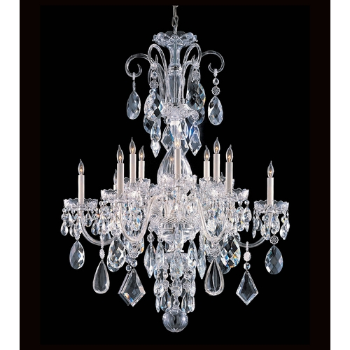 Crystorama Lighting Crystal Chandelier in Polished Chrome Finish 1045-CH-CL-MWP