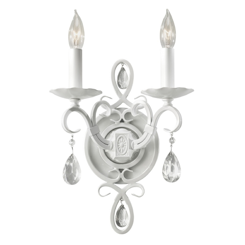 Feiss Lighting Sconce Wall Light in Semi Gloss White Finish WB1227SGW