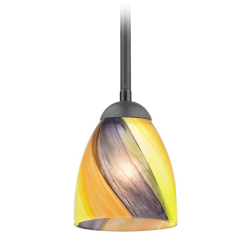 Design Classics Lighting Design Classics Gala Fuse Matte Black LED Mini-Pendant Light with Bell Shade 681-07 GL1015MB