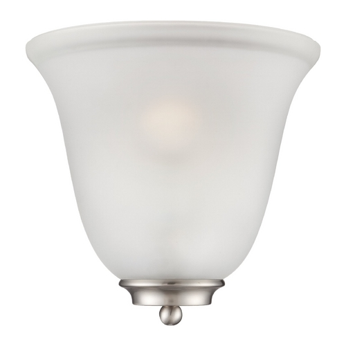 Nuvo Lighting Sconce Wall Light with White Glass in Brushed Nickel Finish 60/5377