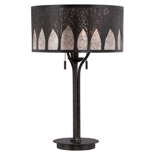 Quoizel Lighting Quoizel Mica Imperial Bronze Table Lamp with Drum Shade MC1691TIB