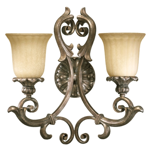 Quorum Lighting Quorum Lighting Barcelona Mystic Silver Bathroom Light 5400-2-58