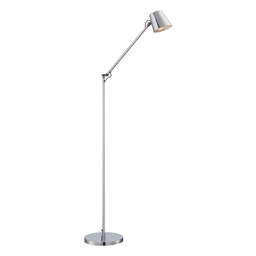 George Kovacs Lighting George Kovacs Chrome LED Swing Arm Lamp with Conical Shade P303-2-077-L