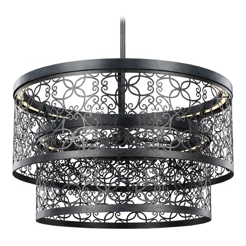 Feiss Lighting Feiss Lighting Arramore Dark Weathered Zinc LED Outdoor Hanging Light F3098/2DWZ-LED