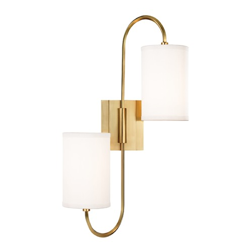 Hudson Valley Lighting Hudson Valley Lighting Junius Aged Brass Sconce 9100-AGB