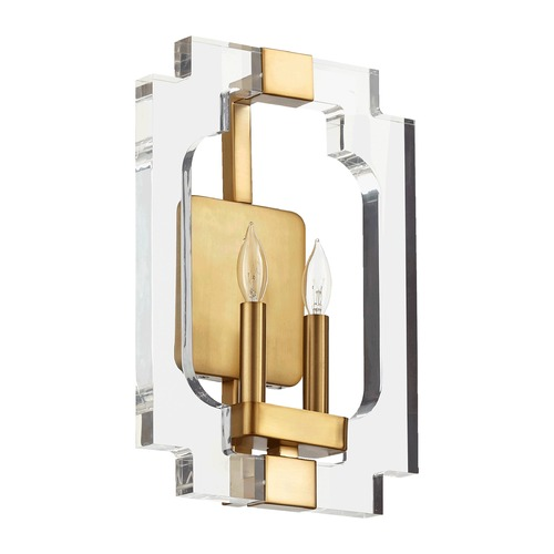 Quorum Lighting Quorum Lighting Broadway Aged Brass Sconce 555-2-80