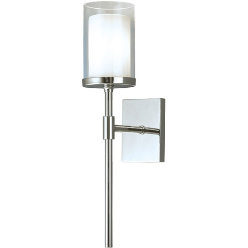 Norwell Lighting Norwell Lighting Kimberly Brush Nickel Sconce 8970-CH-CL