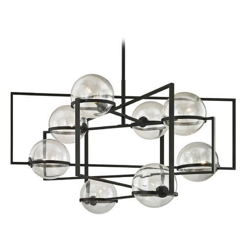 Troy Lighting Troy Lighting Elliot Textured Black Pendant Light with Globe Shade F6228
