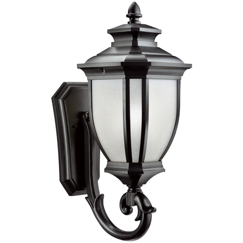 Kichler Lighting Kichler Outdoor Wall Light with White Glass in Black Finish 9042BK