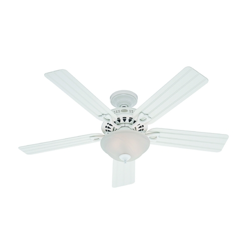 Hunter Fan Company Hunter Fan Company Beachcomber White Ceiling Fan with Light 53122