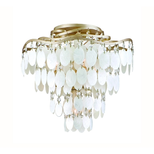 Corbett Lighting Corbett Lighting Dolce Champagne Leaf Semi-Flushmount Light 109-34