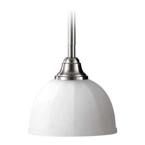 Feiss Lighting Modern Mini-Pendant Light with White Glass P1216BS