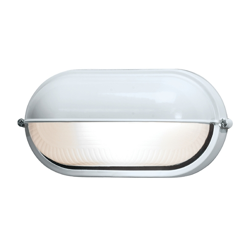 Access Lighting Outdoor Wall Light with White Glass in White Finish 20291-WH/FST