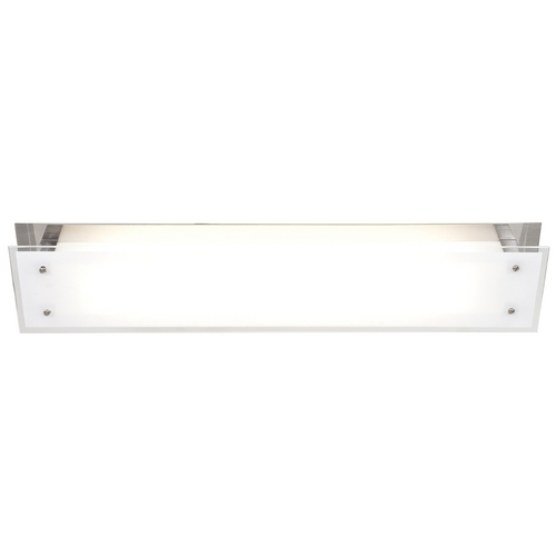 Access Lighting Modern Flushmount Light with White Glass in Brushed Steel Finish 31028-BS/FST