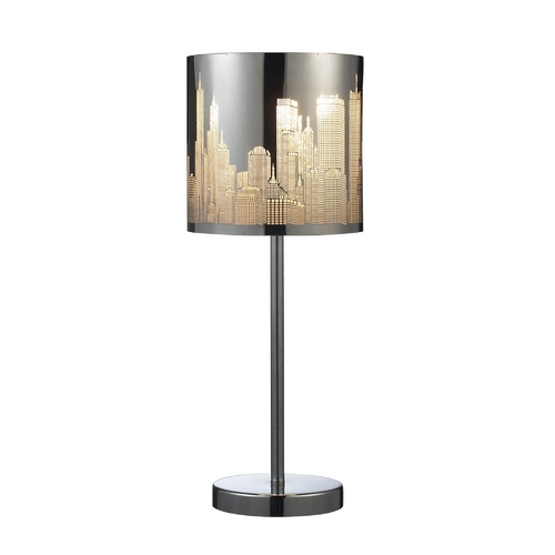 Dimond Lighting Modern Table Lamp in Polished Stainless Steel Finish 31036/1