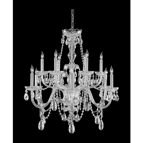 Crystorama Lighting Crystal Chandelier in Polished Chrome Finish 1135-CH-CL-MWP