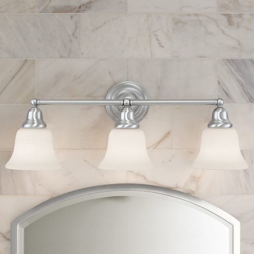 Design Classics Lighting Transitional 3-Light Bathroom Light Satin Nickel 773-09 G9110 KIT