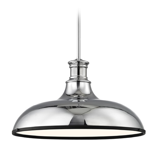 Design Classics Lighting Industrial Large Pendant Light Chrome with 18.38-Inch Wide 1761-26 SH1779-26 R1779-07