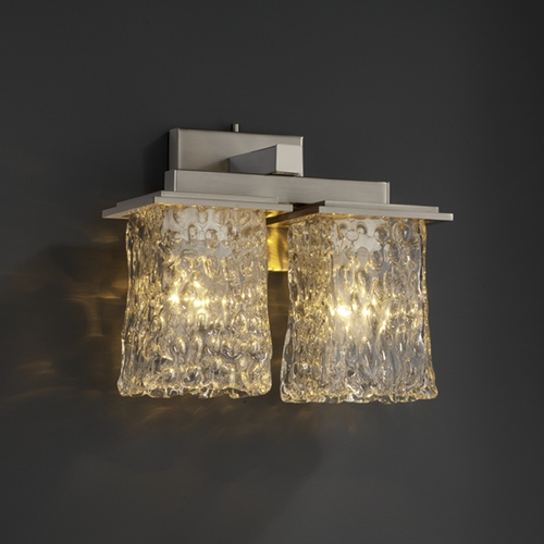 Justice Design Group Justice Design Group Veneto Luce Collection Sconce GLA-8675-26-CLRT-NCKL