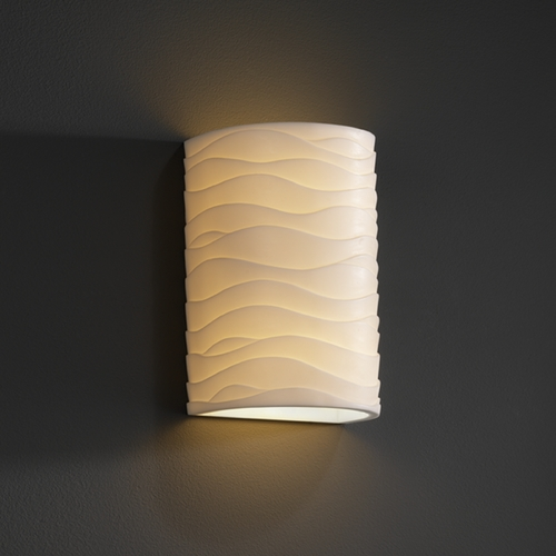 Justice Design Group Justice Design Group Porcelina Collection Outdoor Wall Light PNA-0945W-WAVE