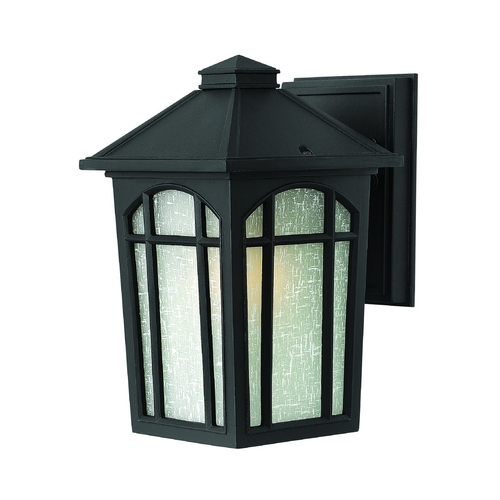 Hinkley Lighting LED Outdoor Wall Light with White Glass in Black Finish 1980BK-LED