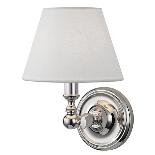 Hudson Valley Lighting Sidney 1 Light Sconce - Polished Nickel 3221-PN