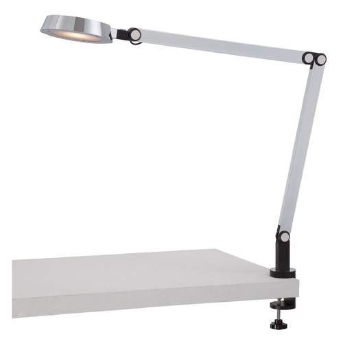 George Kovacs Lighting George Kovacs Chrome LED Table Lamp with Conical Shade P304-2-077-L