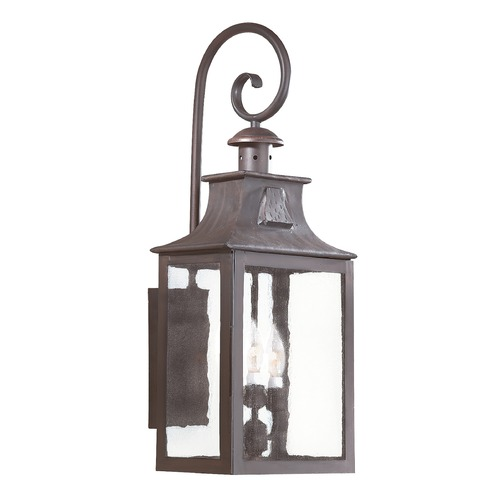 Troy Lighting Outdoor Wall Light with Clear Glass in Old Bronze Finish BCD9005OBZ