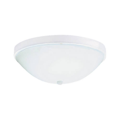 Sea Gull Lighting Flushmount Light with White Glass in White Finish 5976BLE-15