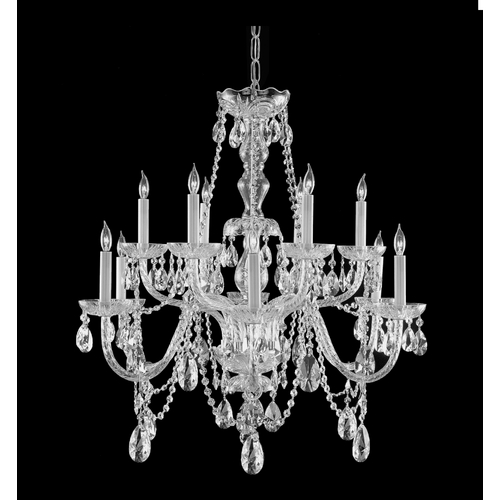 Crystorama Lighting Crystal Chandelier in Polished Chrome Finish 1135-CH-CL-SAQ