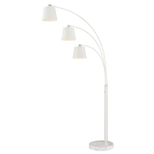 Lite Source Lighting Lite Source Quana White Arc Lamp with Empire Shade LSF-83033WHT