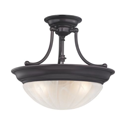 Design Classics Lighting Three-Light Semi-Flush Ceiling Light 565-30