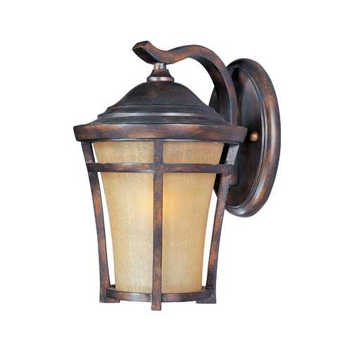 Maxim Lighting Outdoor Wall Lantern with Golden Frost Glass - 14-Inches Tall 40164GFCO