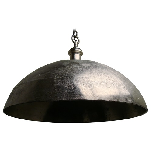 Light and Living Large Rustic Pendant Light with Metal Bowl Shade 3034457