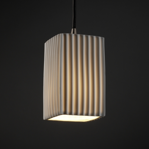 Justice Design Group Justice Design Group Limoges Collection Mini-Pendant Light POR-8816-15-PLET-NCKL