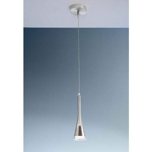 Holtkoetter Lighting Holtkoetter Lighting Lichtstar System Satin Nickel Mini-Pendant Light with Conical Shade C8110 G5770 SN