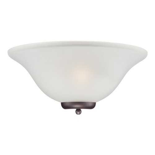 Nuvo Lighting Sconce Wall Light with White Glass in Mohogany Bronze Finish 60/5379