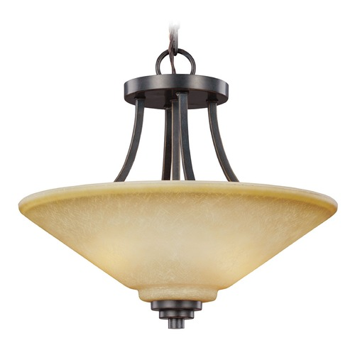 Sea Gull Lighting Sea Gull Lighting Parkfield Flemish Bronze Pendant Light with Coolie Shade 7713002-845