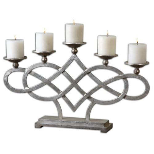 Uttermost Lighting Uttermost Adala Silver Candleholder 19856