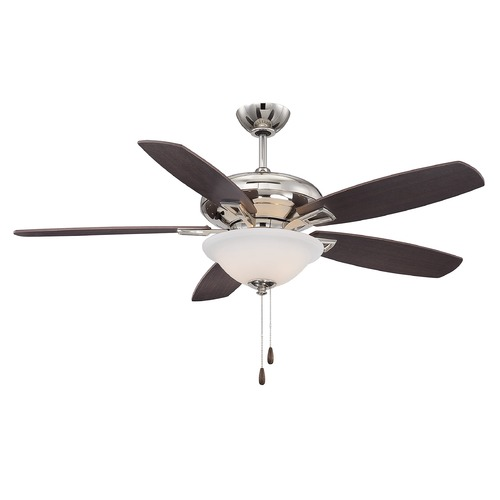 Savoy House Savoy House Polished Nickel Ceiling Fan with Light 52-831-5RV-109
