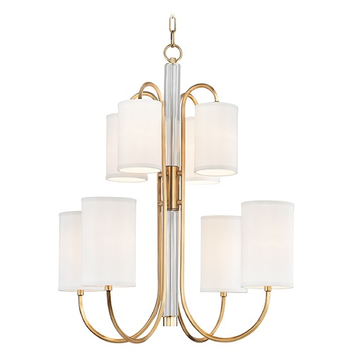 Hudson Valley Lighting Hudson Valley Lighting Junius Aged Brass Chandelier 9108-AGB