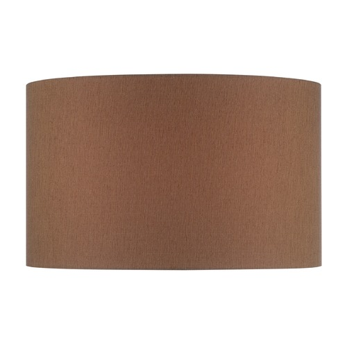 Lite Source Lighting Mocha Drum Lamp Shade with Spider Assembly CH1245-16
