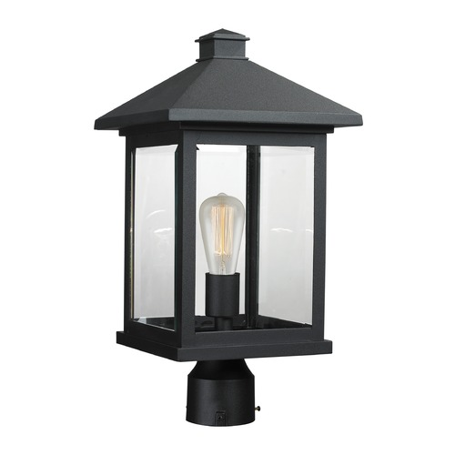 Z-Lite Z-Lite Portland Black Post Light 531PHBR-BK