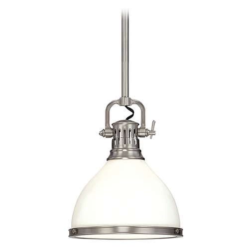 Hudson Valley Lighting Mini-Pendant Light with White Glass 2622-SN