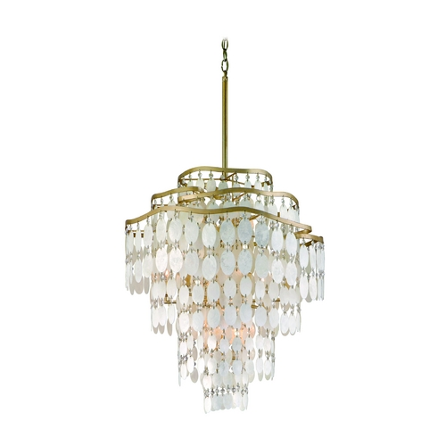 Corbett Lighting Corbett Lighting Dolce Champagne Leaf Island Light 109-412